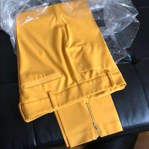 Mustard yellow dress pants